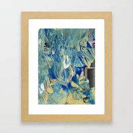 Blue Wave Waterfall Framed Art Print
