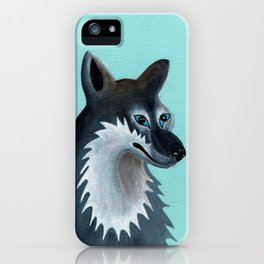 Mrs. Gray Wolf iPhone Case
