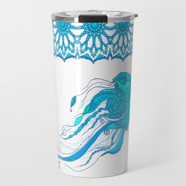 Jellyfish ornament Travel Mug