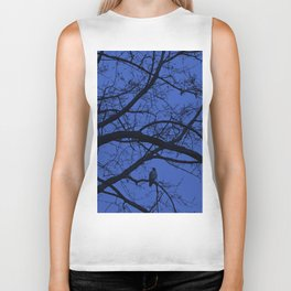 Hawk in Tree Biker Tank