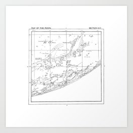 Map of the Moon (set 3/3) Art Print