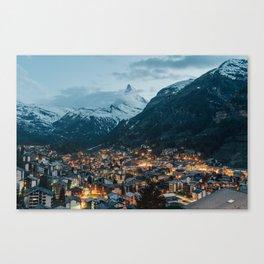 Twilight in Zermatt Canvas Print