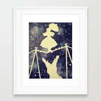 haunted mansion Framed Art Prints featuring Haunted by Kayleigh Kirkpatrick