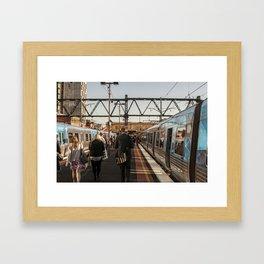 Going home. (South Yarra Station, 2013) Framed Art Print