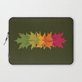 Falling Maple : Green Laptop Sleeve