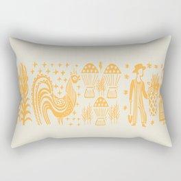 Pumpkin Butterprint Pyrex Rectangular Pillow