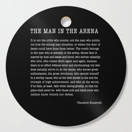 The Man In The Arena, Theodore Roosevelt Quote, Cutting Board