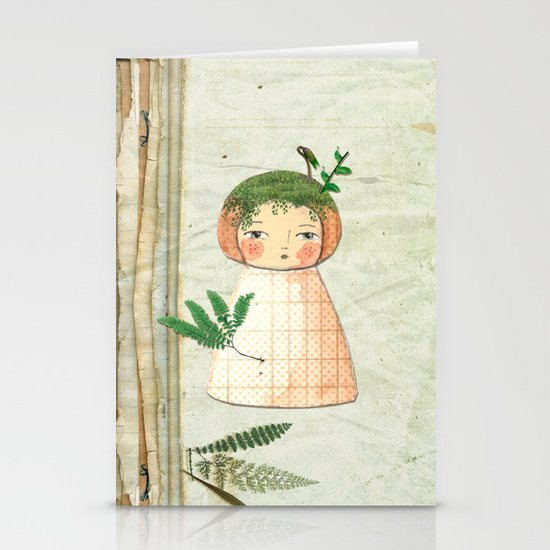 Herbs paperdolls Stationery Cards