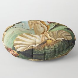 The Birth of Venus by Sandro Botticelli (1485) Floor Pillow