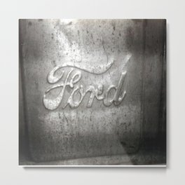 Ford Motors Black and white film Photography Metal Print
