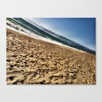 west coast Canvas Prints featuring West Coast by Fun Kelly