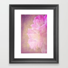 Live And Love Framed Art Print