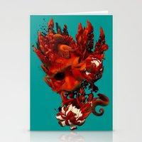 karma Stationery Cards featuring Karma by angrymonk