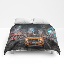 Times Square NYC Comforters