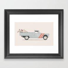 Surfboard Pick Up Van Framed Art Print