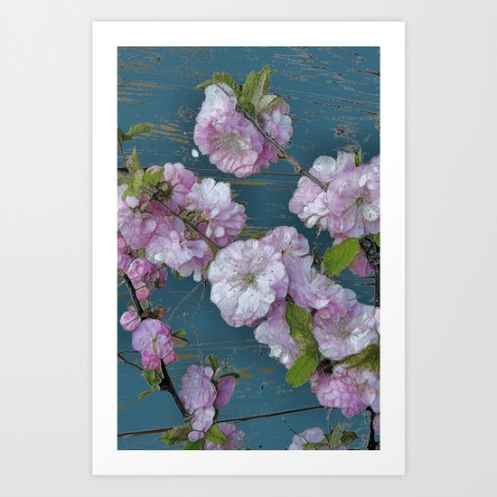 Vintage Pink Blossoms Art Print