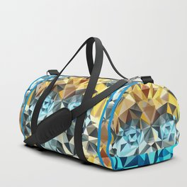 Bumblebee Low Poly Portrait Duffle Bag