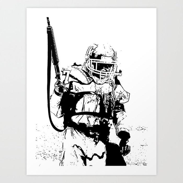The Killing Football Fields Art Print By Albertfallickwang