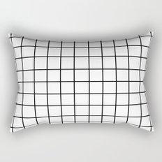 Grid (Black/White) Rectangular Pillow