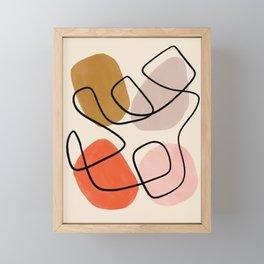 Mid-Century Line Modern Art # 65 Framed Mini Art Print