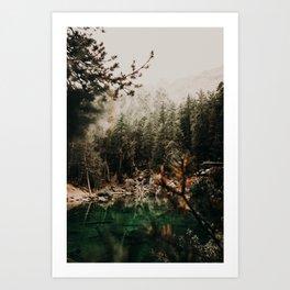 LAC VERDE /// Mountain Lake Art Print