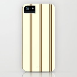Cream and Brown Stripes iPhone Case