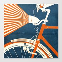 bicycle Canvas Prints featuring Bicycle Light by Fernando Vieira
