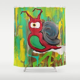 Life at a Snails Pace Shower Curtain