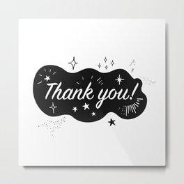 A sparkling Thank You Metal Print