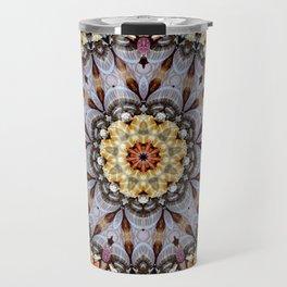 abstract art texture mandala mosaic star Travel Mug