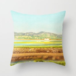 SPRING COLORS IN SALINAS Throw Pillow