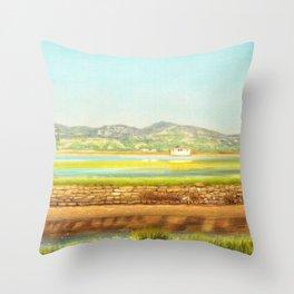 SPRING COLORS IN SALINAS Throw Pillow