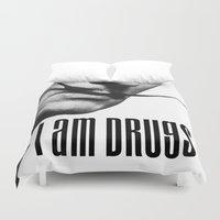 salvador dali Duvet Covers featuring salvador dali i am drugs by Maioriz Home