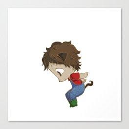 Puppy Boy Canvas Print