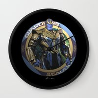 thanos Wall Clocks featuring Thanos - Guardians of the Galaxy by Leamartes