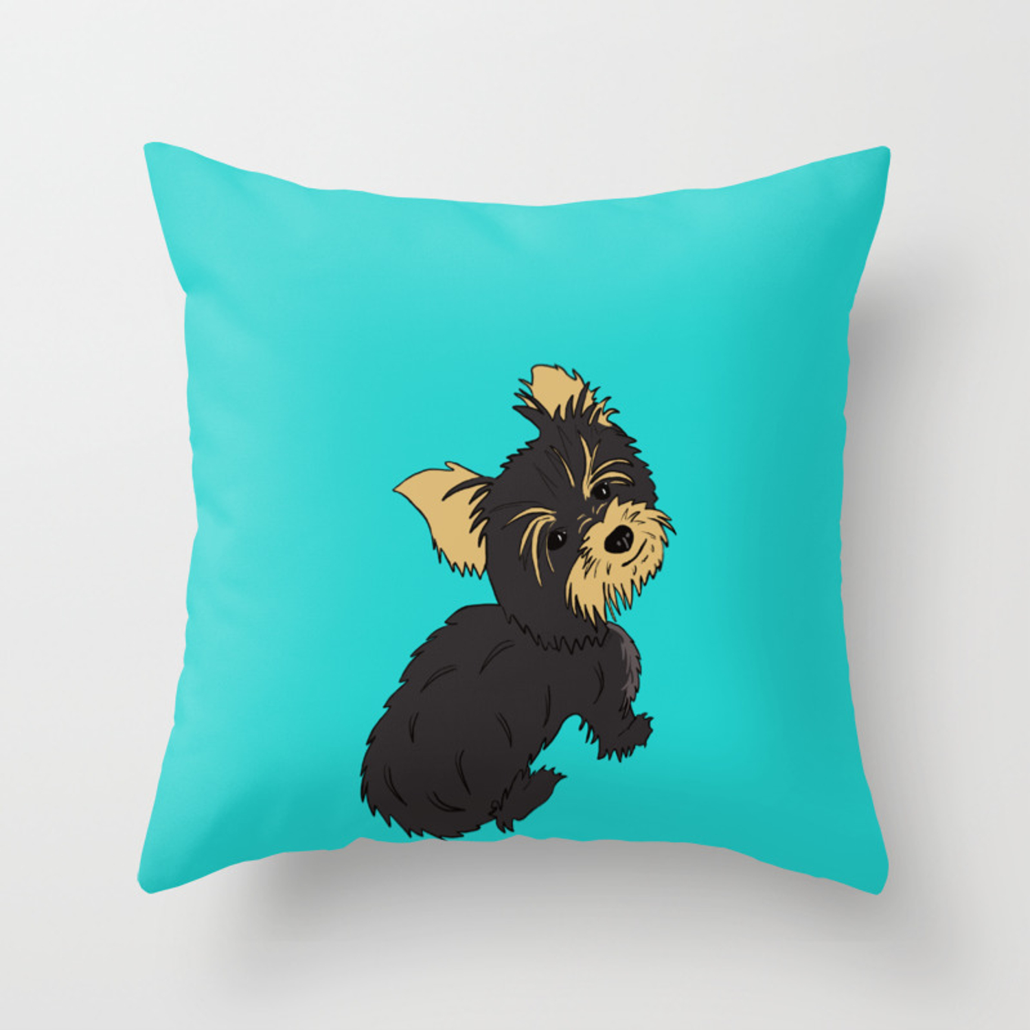 A Bossy Yorkie Throw Pillow By Melindatodd Society6