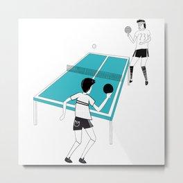Ping Pong Game Metal Print