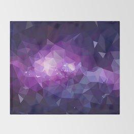 Purple galaxy 2 low poly Throw Blanket