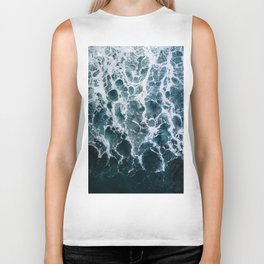 Minimalistic Veins in a Wave  - Seascape Photography Biker Tank