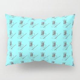 Vintage Thread Needle Sew Sewing Pattern Pillow Sham