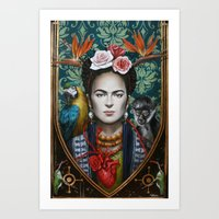 frida Art Prints featuring Frida by Sophie Wilkins