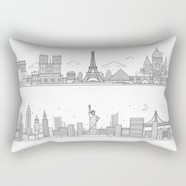 Skylines Rectangular Pillow