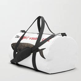 The right whale to love Duffle Bag
