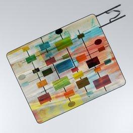 Mid-Century Modern Art 1.3 -  Graffiti Style Picnic Blanket