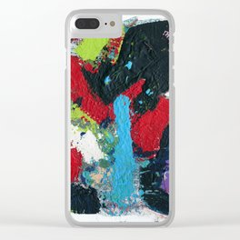 Tic Modern Painting Clear iPhone Case