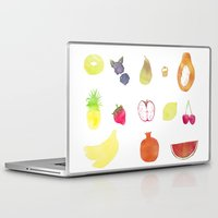 fruits Laptop & iPad Skins featuring fruits by Ewa Pacia