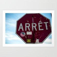 Stop Sign Art Print