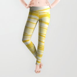 Milk and Honey Yellow Stripes Abstract Leggings