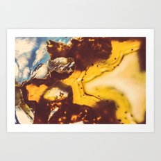 Amber Honey Agate Art Print