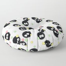 Cute Soot Sprites with Candy Floor Pillow